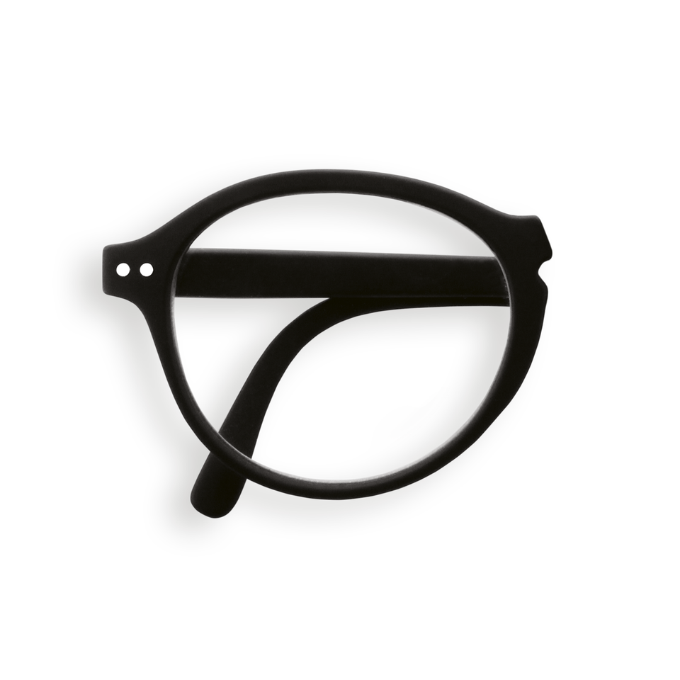 Black #F Foldable Reading Glasses by Izipizi