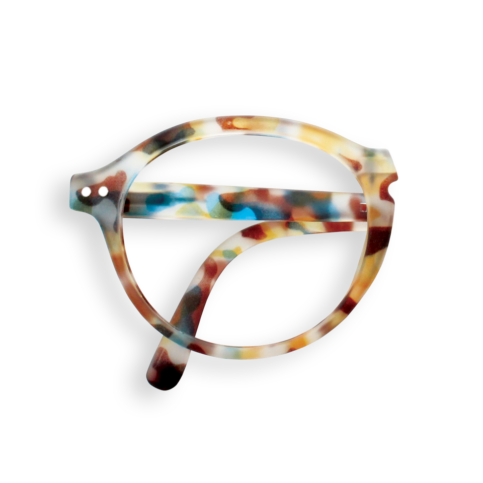 Blue Tortoise #F Foldable Reading Glasses by Izipizi