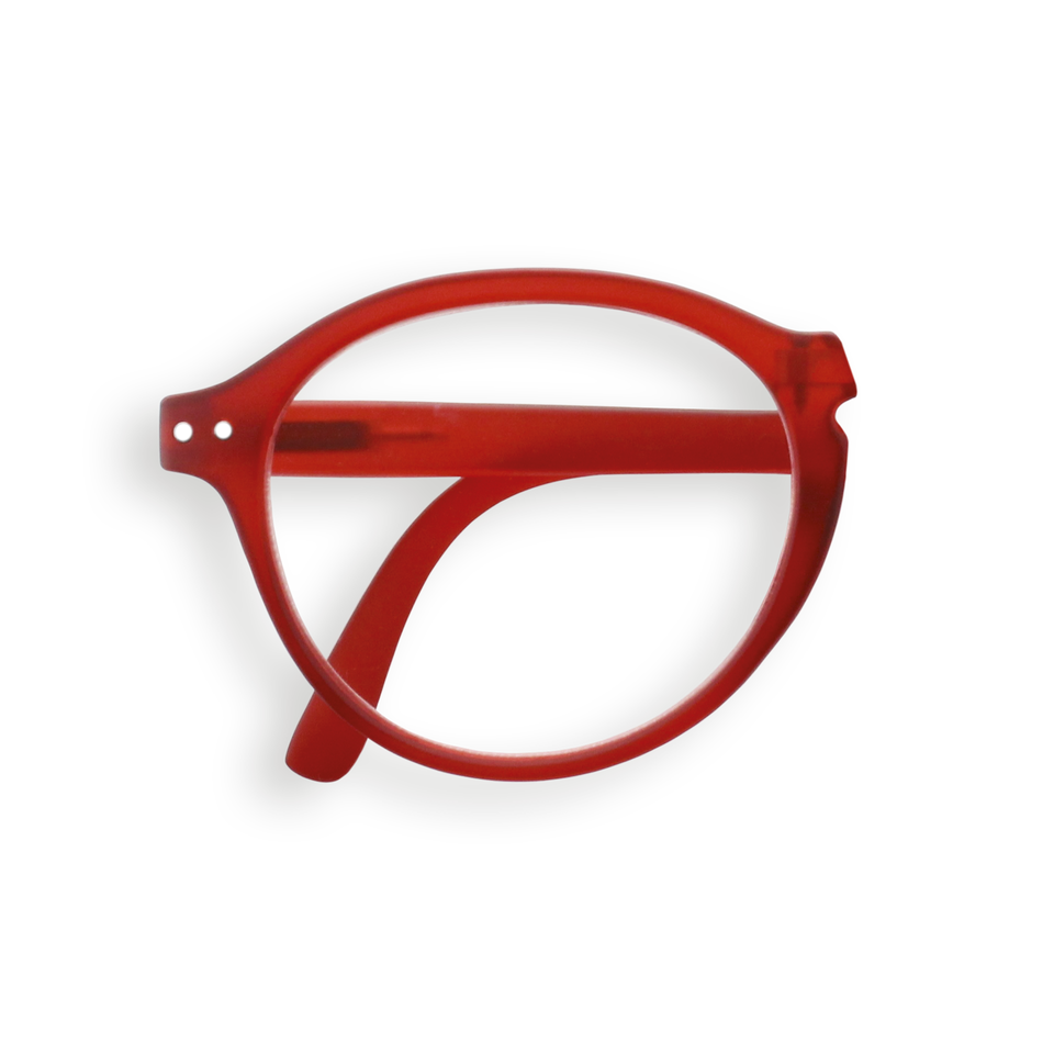 Red #F Foldable Reading Glasses by Izipizi