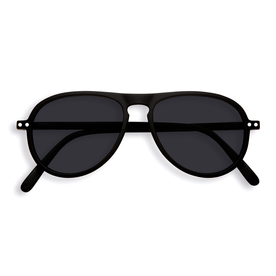 Black #I Aviator Sunglasses by Izipizi