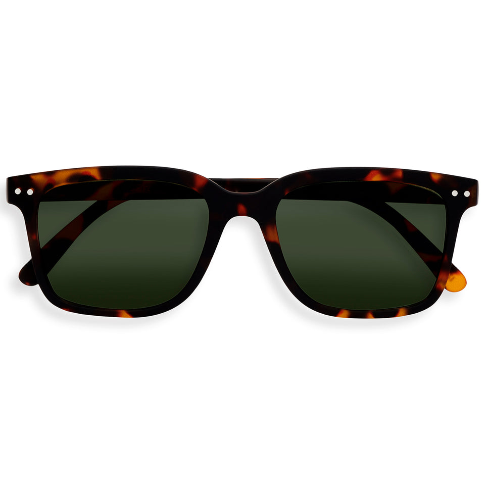 Tortoise Green Lenses #L Sunglasses by Izipizi