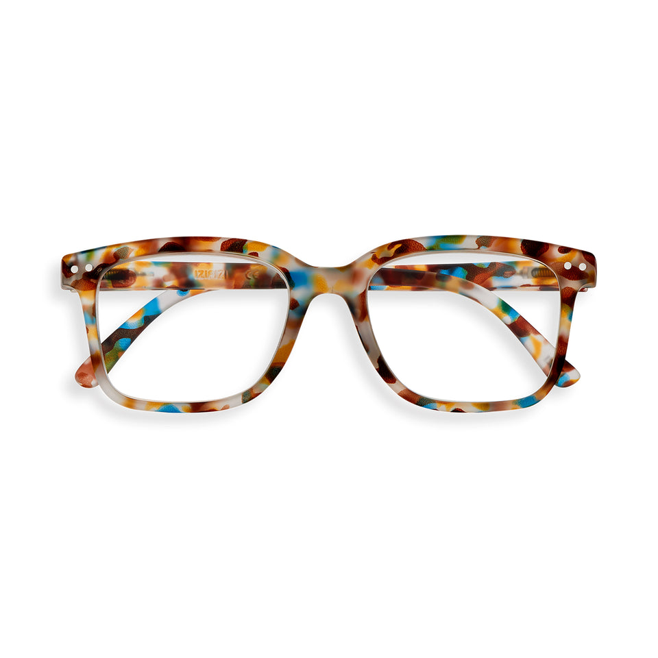 Blue Tortoise #L Reading Glasses by Izipizi