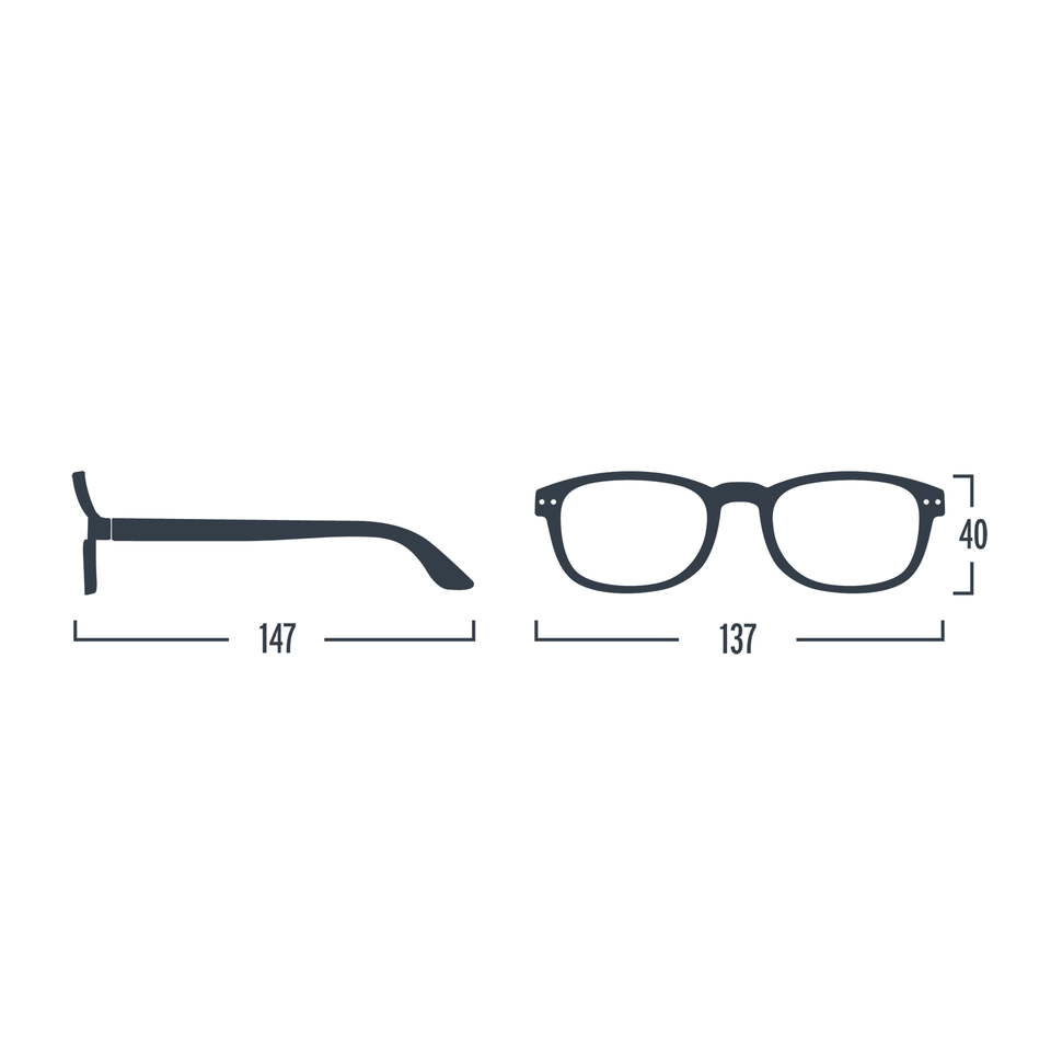 Navy Blue #B Reading Glasses by Izipizi