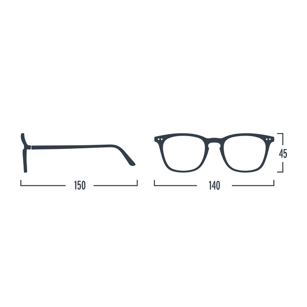 Black #E Reading Glasses by Izipizi