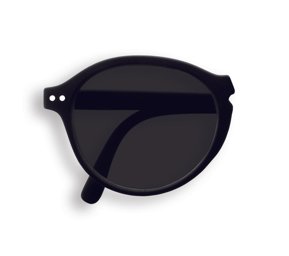 Black #F Foldable Sunglasses by Izipizi