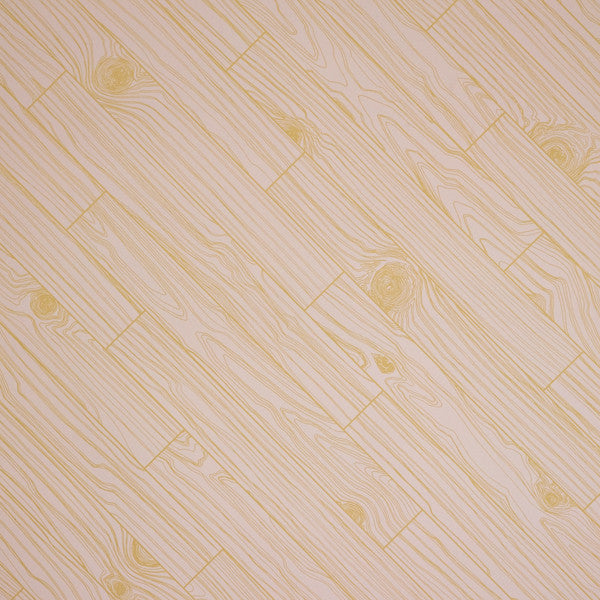 Knot Wood - Pale Gold on Blush Clay Coated Paper Wallpaper by Flavor Paper - Vertigo Home