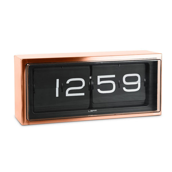 Copper 24hr Brick Wall / Desk Clock by Leff Amsterdam - Vertigo Home