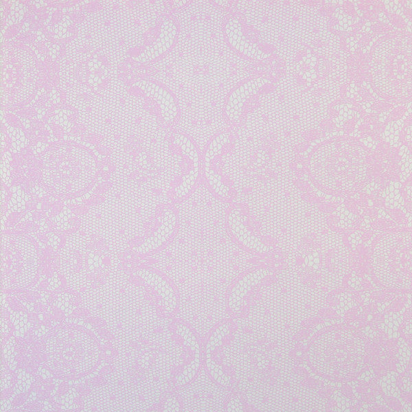 Laced - Peony on Mica Clay Coated Paper Wallpaper by Flavor Paper - Vertigo Home