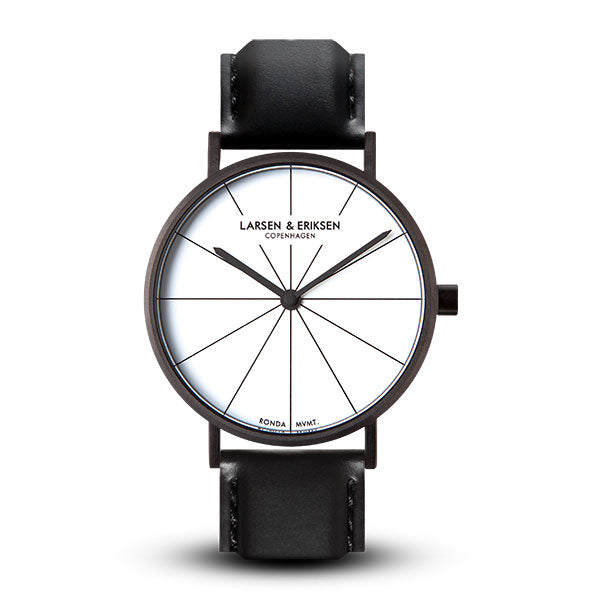 37mm Larsen & Eriksen Absalon Watch Black/White/Black
