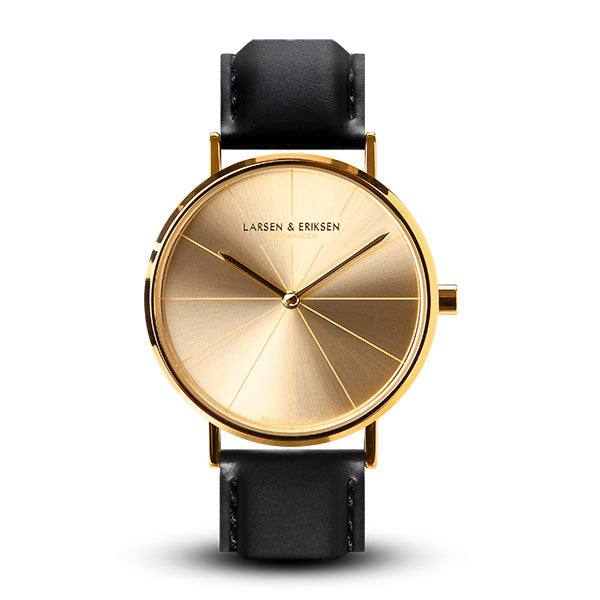 37mm Larsen & Eriksen Absalon Watch Gold/Gold/Black