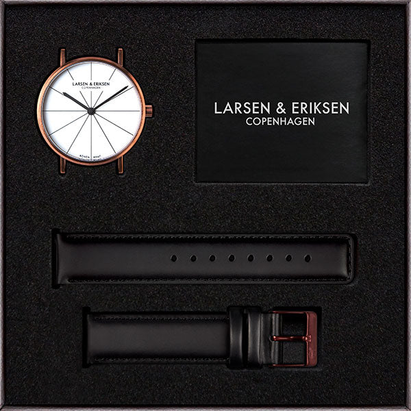 37mm Larsen & Eriksen Absalon Watch Rosegold/White/Black