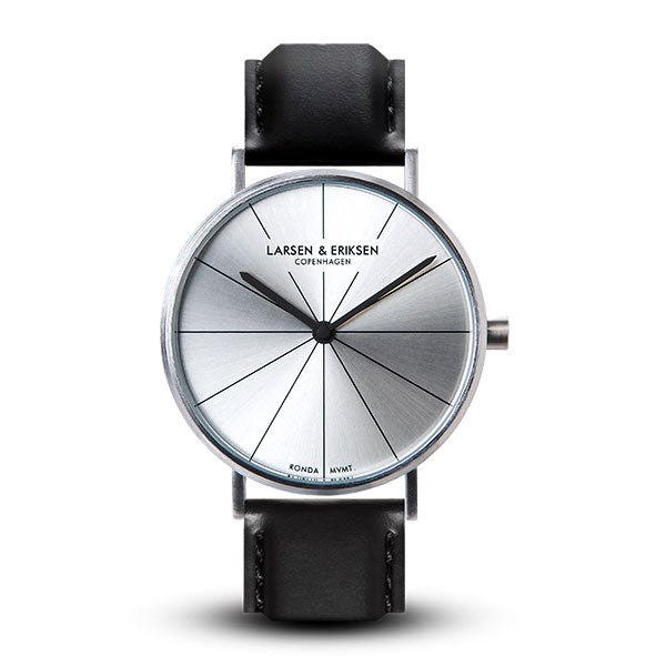 37mm Larsen & Eriksen Absalon Watch Silver/Silver/Black