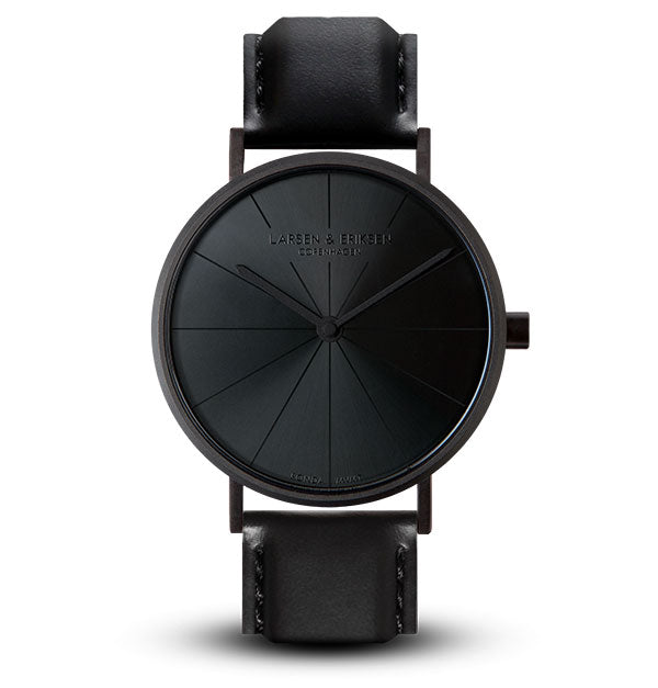 41mm Larsen & Eriksen Absalon Watch Black/Black/Black