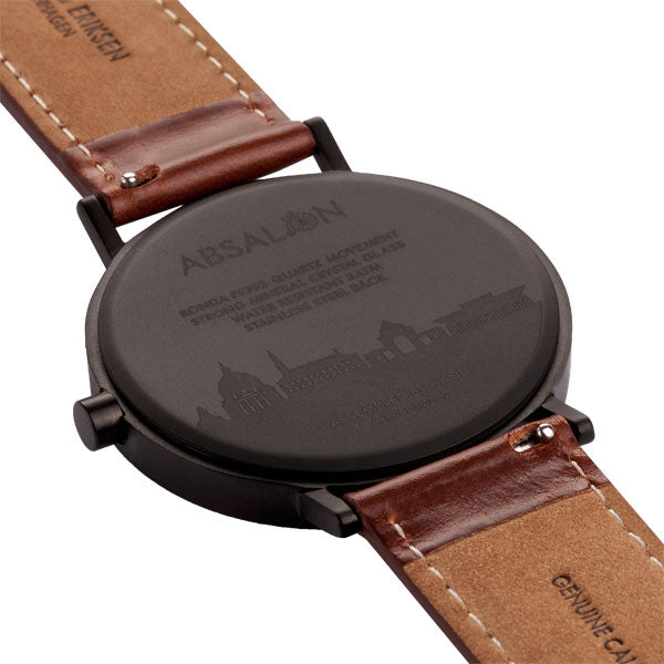 41mm Larsen & Eriksen Absalon Watch Black/White/Brown
