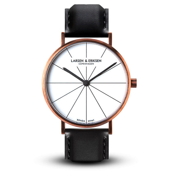41mm Larsen & Eriksen Absalon Watch Rosegold/White/Black