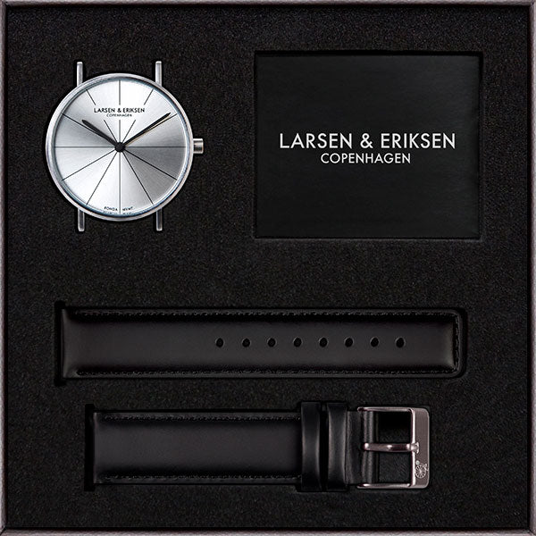 41mm Larsen & Eriksen Absalon Watch Silver/Silver/Black