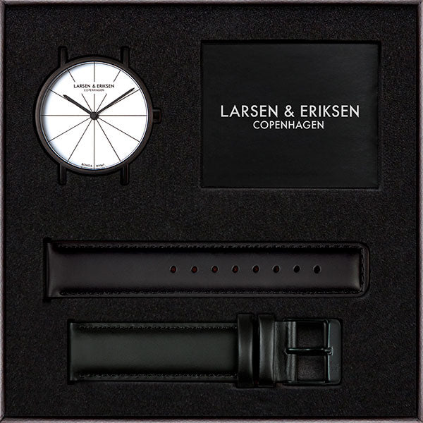 41mm Larsen & Eriksen Absalon Watch Black/White/Black
