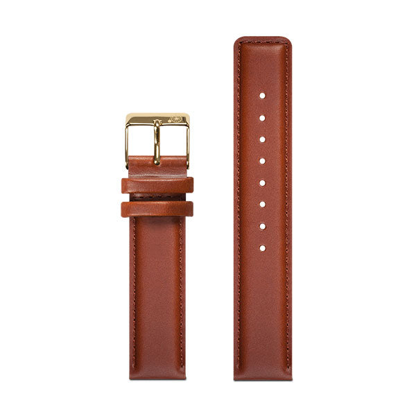 18mm Larsen & Eriksen Brown Watch Strap