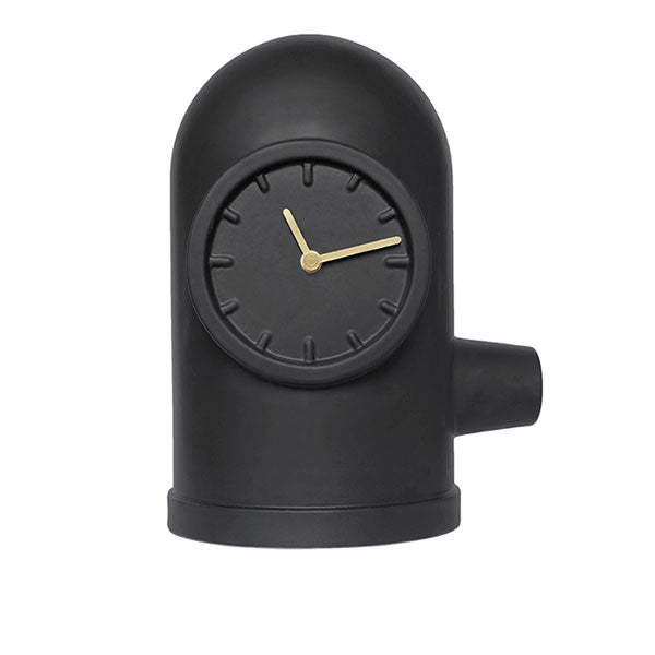 Black Base Table Clock by Leff Amsterdam