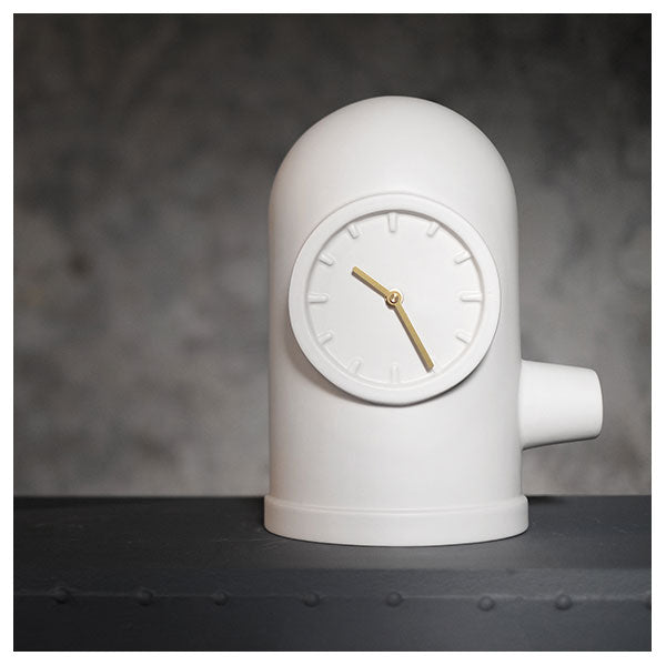 White Base Table Clock by Leff Amsterdam