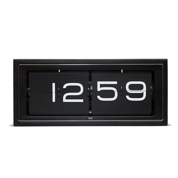 Black 24hr Brick Wall / Desk Clock by Leff Amsterdam