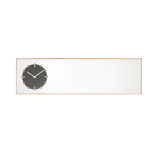 Black Inverse Mirror Clock by Leff Amsterdam