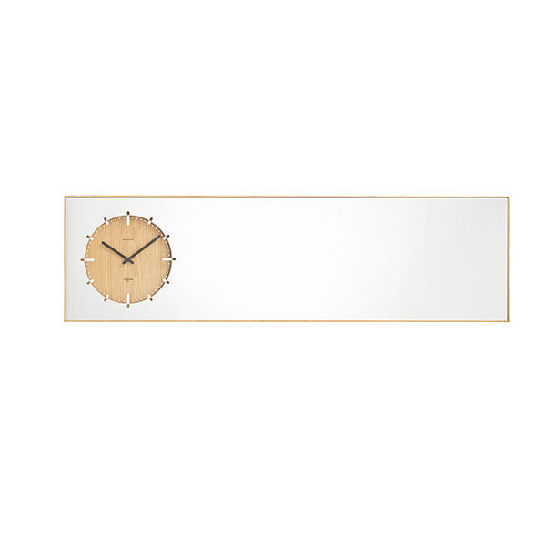 Natural Inverse Mirror Clock by Leff Amsterdam