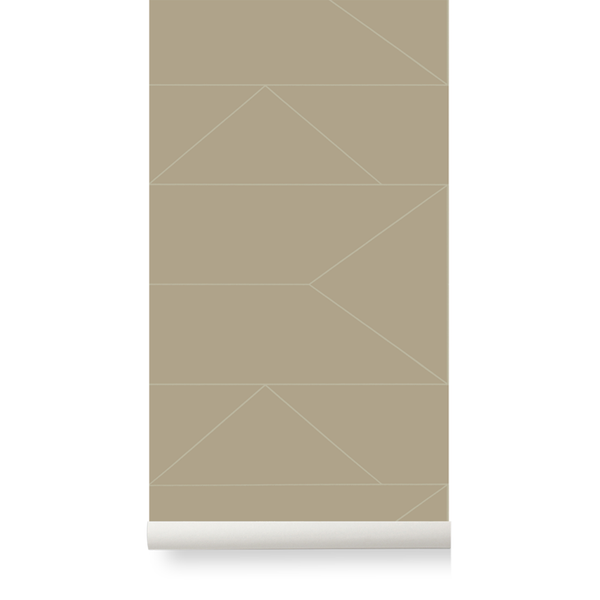 Lines Wallpaper - Cashmere by Ferm Living