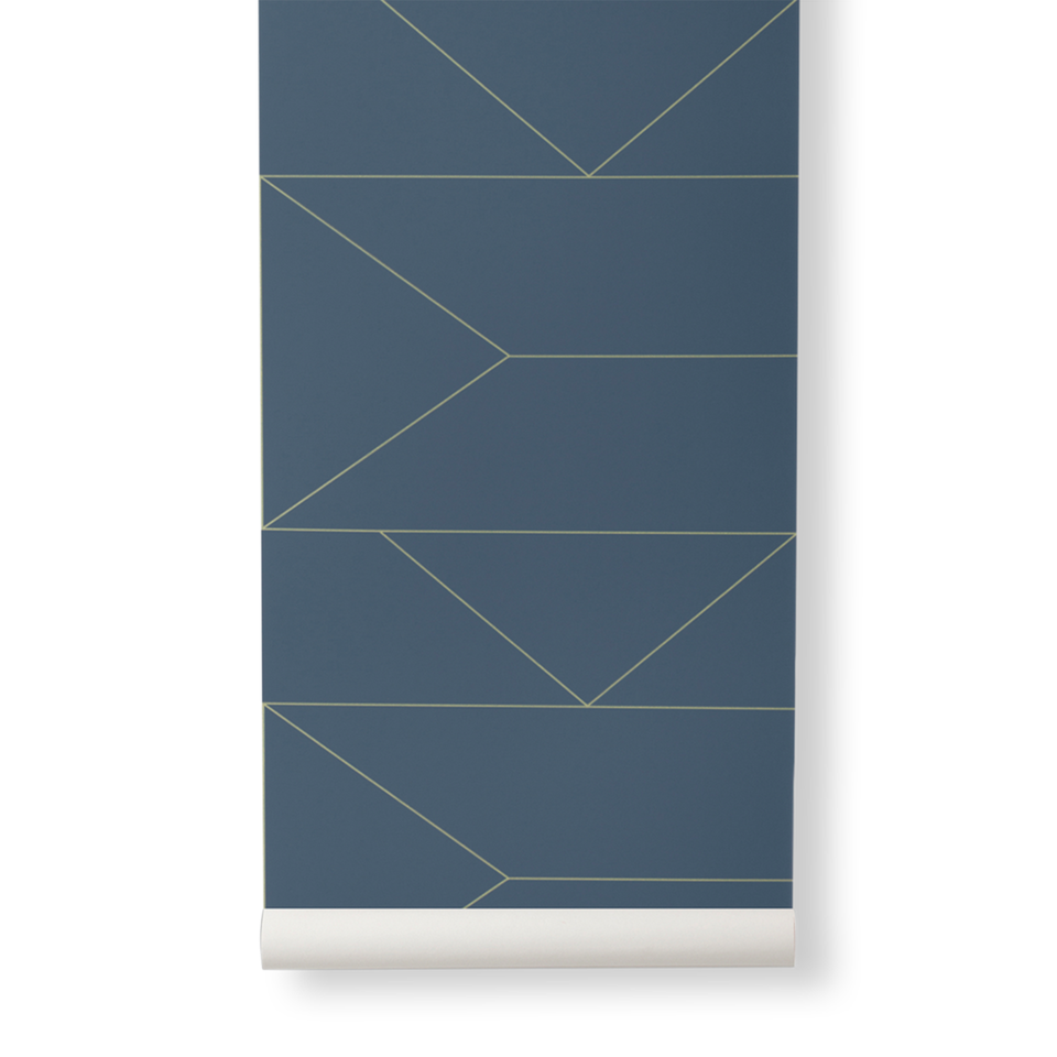 Lines Wallpaper - Dark Blue by Ferm Living