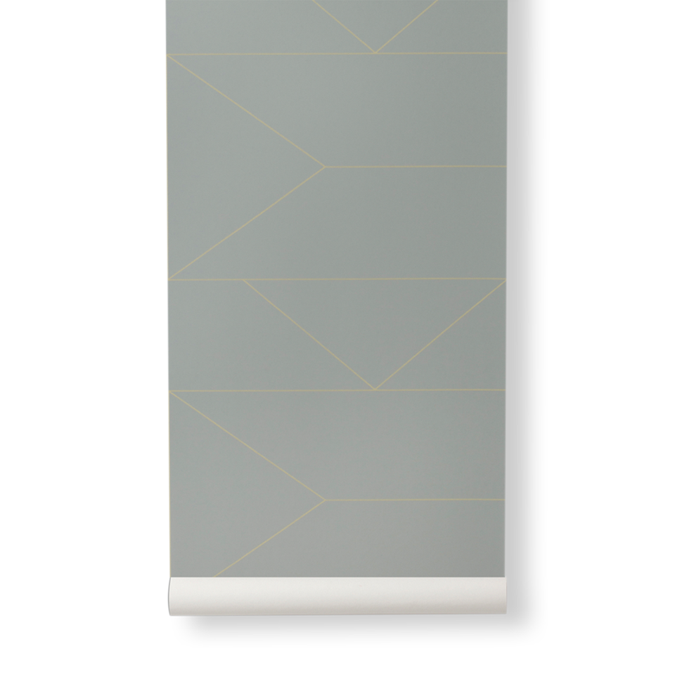 Lines Wallpaper - Grey by Ferm Living