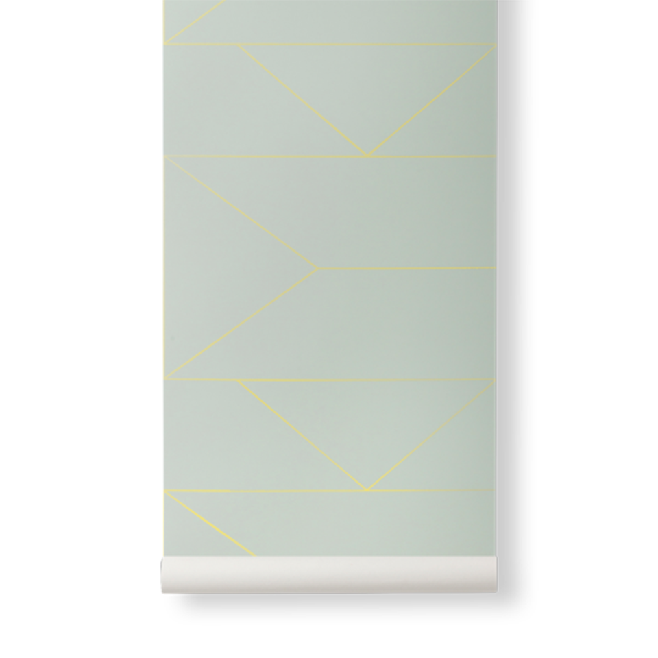 Lines Wallpaper - Mint by Ferm Living