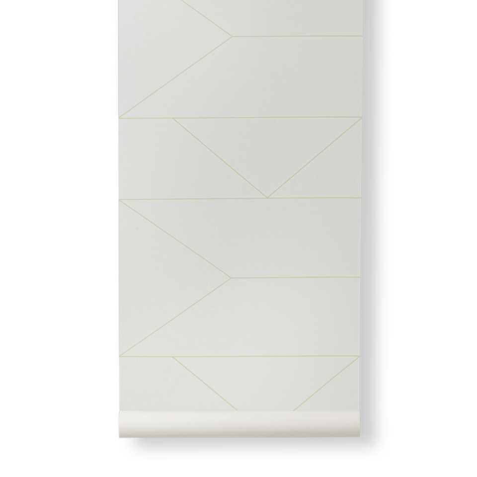 Lines Wallpaper - Off White by Ferm Living