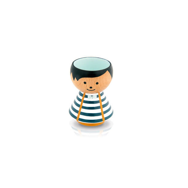Bordfolk Egg Cup - Boy, Blue Stripes by lucie kaas - Vertigo Home