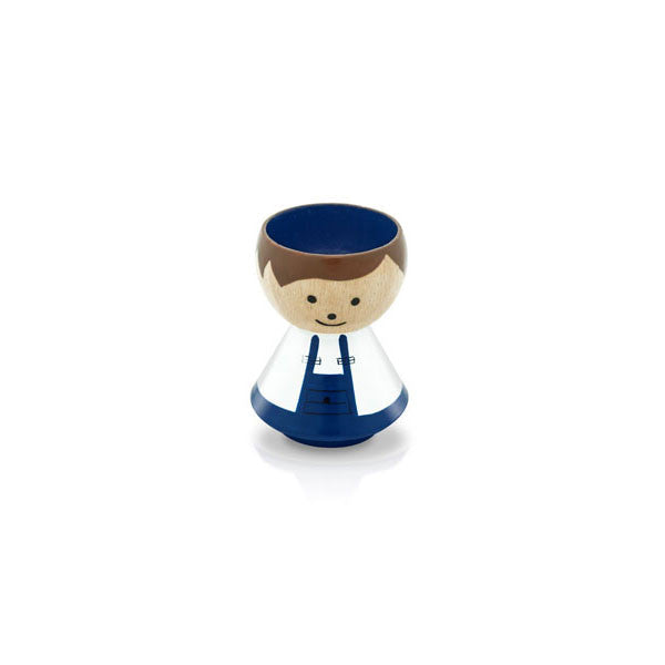 Bordfolk Egg Cup - Boy, Handyman by lucie kaas - Vertigo Home