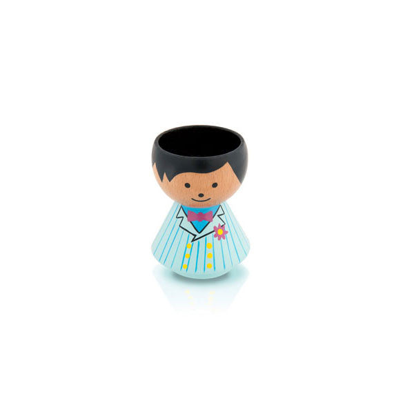 Bordfolk Egg Cup - Boy, Suit Mint Green by lucie kaas