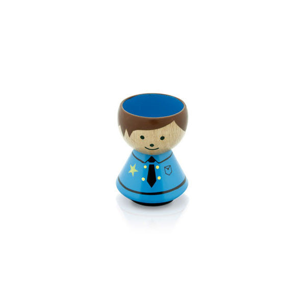 Bordfolk Egg Cup - Boy, Police by lucie kaas - Vertigo Home