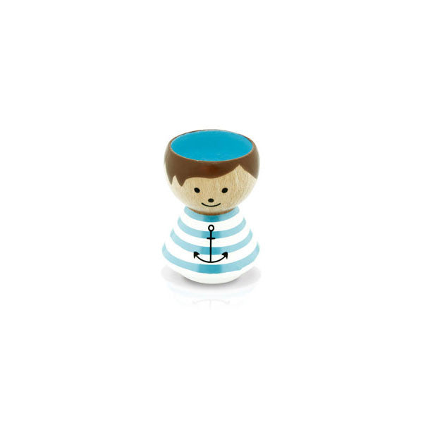 Bordfolk Egg Cup - Boy, Sailor by lucie kaas - Vertigo Home
