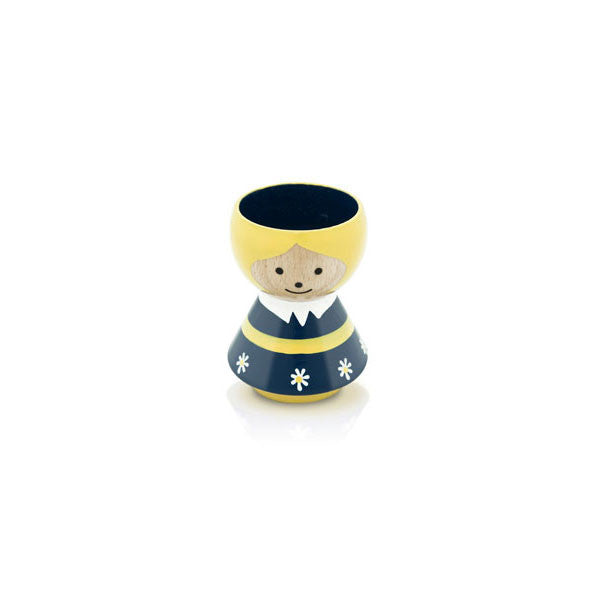 Bordfolk Egg Cup - Girl, Dark Blue by lucie kaas - Vertigo Home