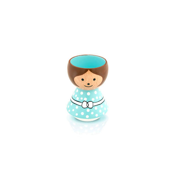 Bordfolk Egg Cup - Girl, Mint Green by lucie kaas - Vertigo Home