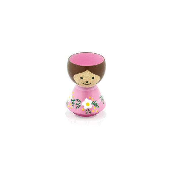 Bordfolk Egg Cup - Girl, Pink by lucie kaas - Vertigo Home