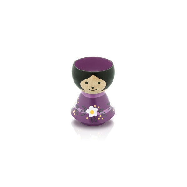 Bordfolk Egg Cup - Girl, Purple by lucie kaas - Vertigo Home