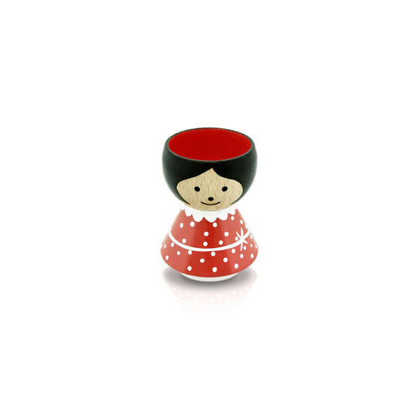 Bordfolk Egg Cup - Girl, Red by lucie kaas - Vertigo Home
