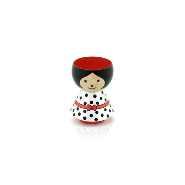 Bordfolk Egg Cup - Girl, White by lucie kaas