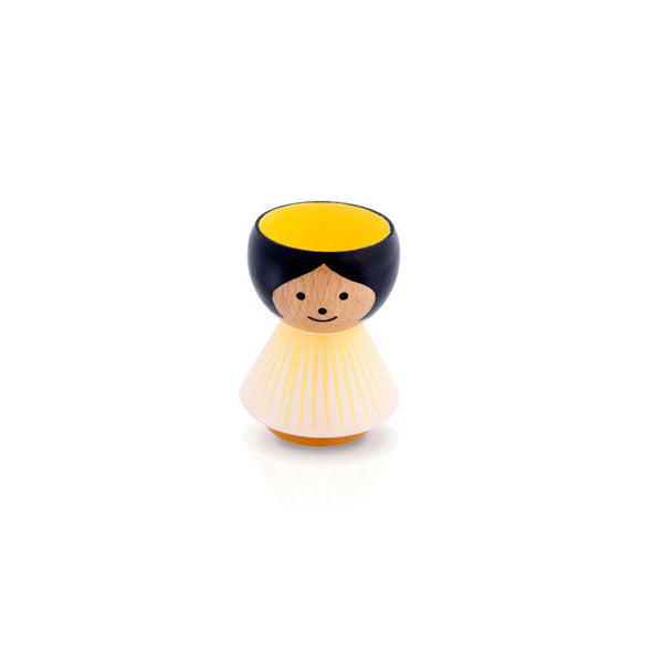 Bordfolk Egg Cup - Girl, Yellow Sunrise by lucie kaas - Vertigo Home