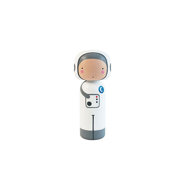 Spaceman Wooden Kokeshi Doll by Sketch.inc for lucie kaas - Vertigo Home