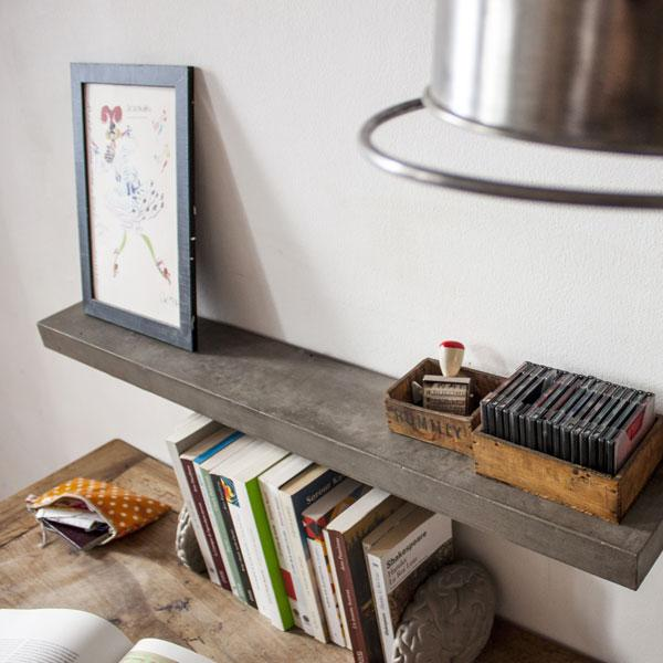 Sliced Concrete Shelf by Lyon Béton