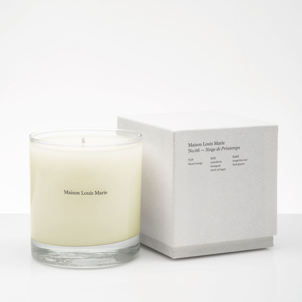 No.06 Neige de Printemps Candle by Maison Louis Marie