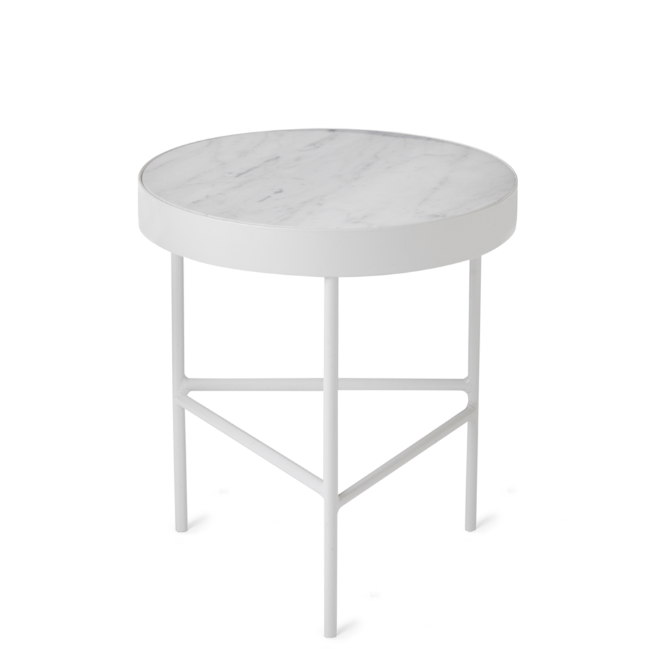 Marble Table White Bianco Carra by Ferm Living