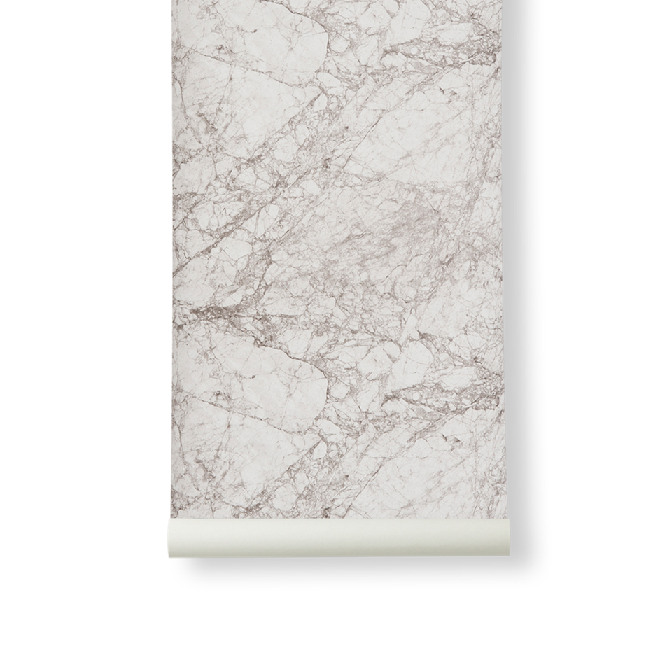 Marble Wallpaper - Grey by Ferm Living