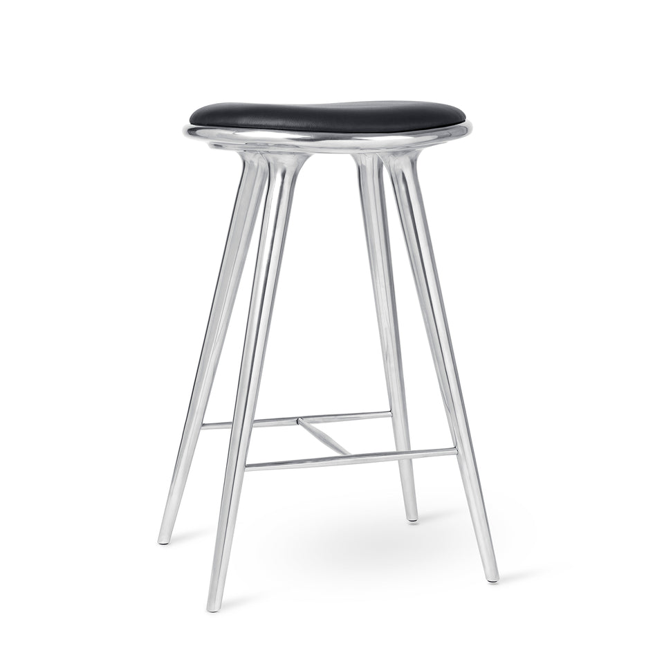 Aluminum High Stool by Space Copenhagen for Mater